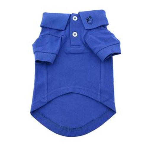 Dog Polo Shirt - Nautical Blue - front