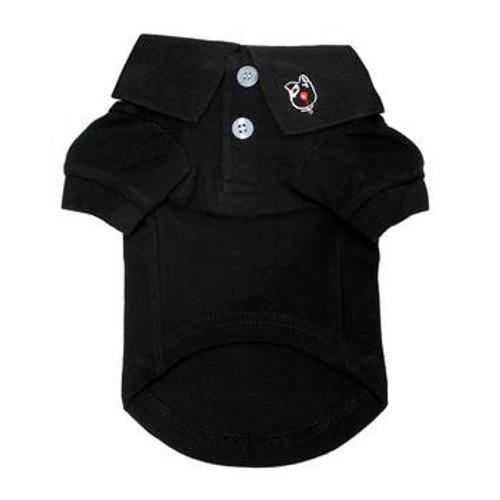Dog Polo Shirt - Jet Black - front