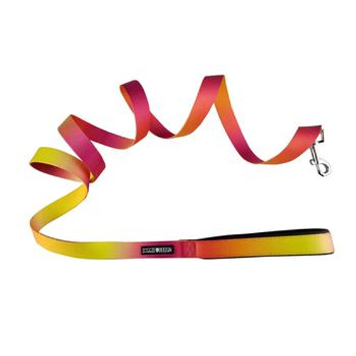Ombre Dog Leash - Raspberry Pink and Orange