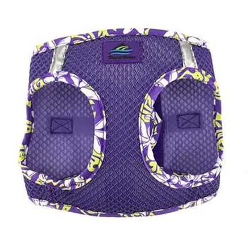 Mesh Dog Harness - Paisley Purple Hawaiian Trim