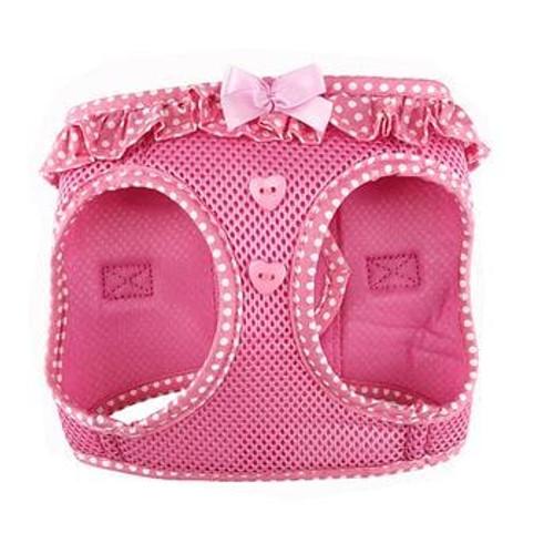 mesh dog harness - Pink Polka Dot