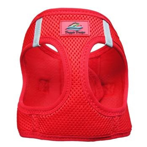Mesh Dog Harness - Solid Red