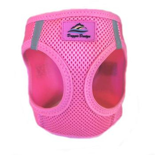 Mesh Dog Harness - Solid Candy Pink