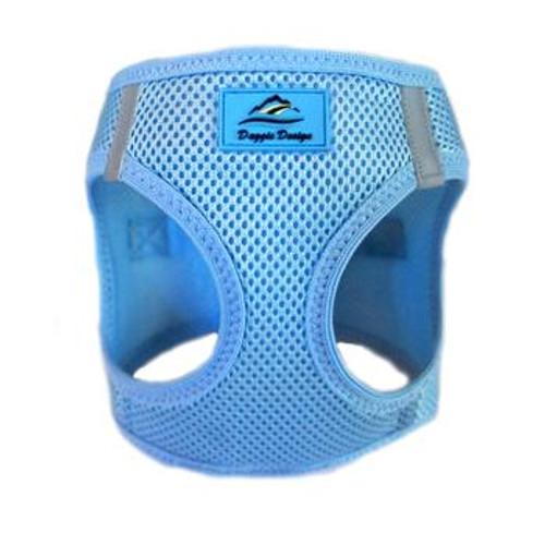 Mesh Dog Harness - Solid Light Blue