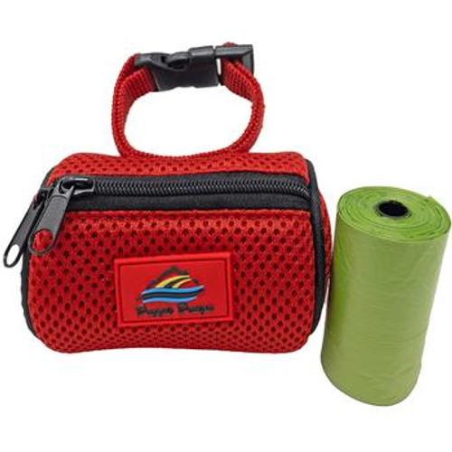 Dog Poop Bag Holder - Red