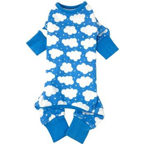 Dog Pajamas - Fluffy Clouds - Blue