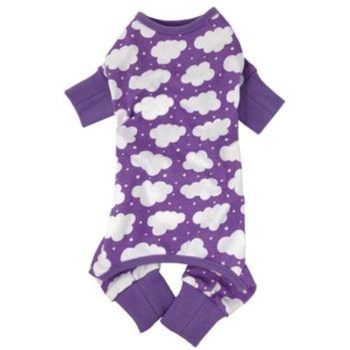Dog Pajamas - Fluffy Clouds - Purple