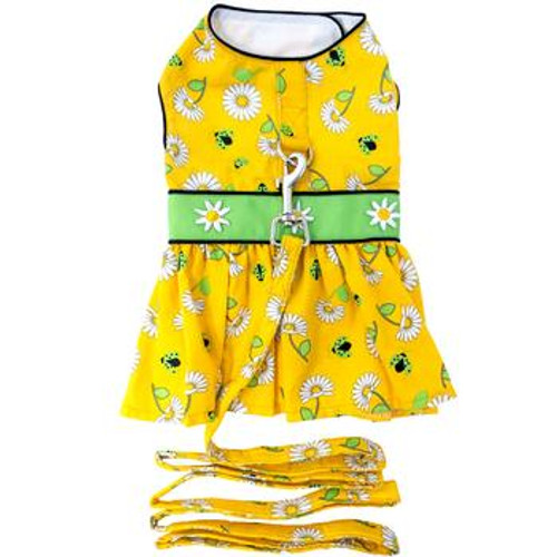 Dog Dress - Ladybugs and Daisies - With Matching Leash