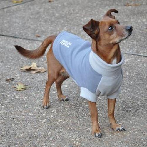 Dog Coat - Highline Fleece Two Tone Gray
