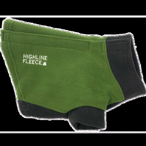 Dog Coat - Highline Fleece Two Tone Green