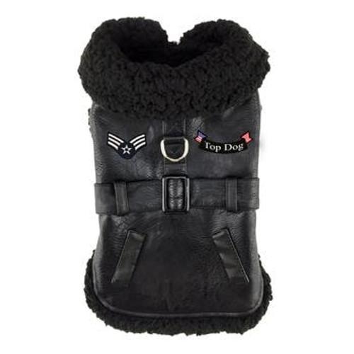 Dog Harness Coat - Top Dog Black
