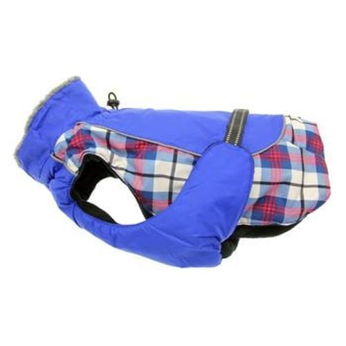 Dog Coat - Alpine All-Weather - Royal Blue Plaid