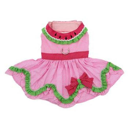 Dog Harness Dress - Watermelon - front
