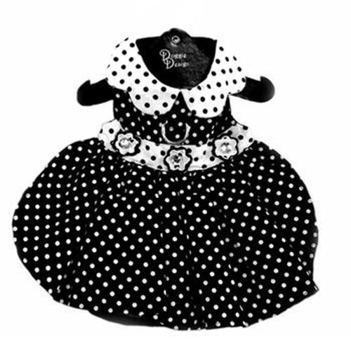 Dog Dress - Polka Dot Black and White