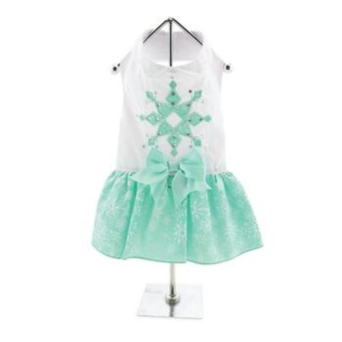 Dog Dress - Turquoise Crystal