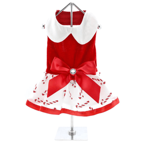 Holiday Dog Dress - Candy Canes
