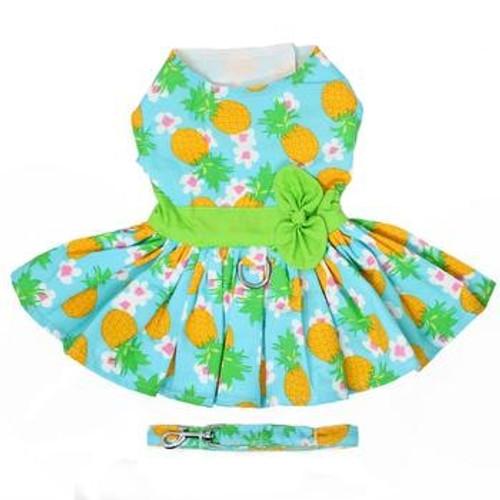 Dog Harness Dress - Pineapple Luau