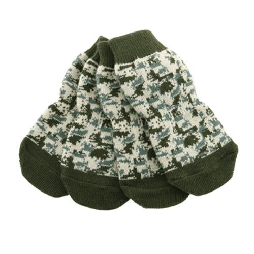 dog socks - Non-Skid Green Camo