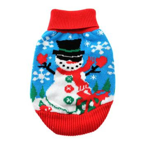 Holiday Dog Sweater - Ugly Snowman