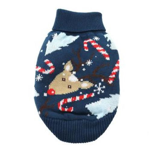 Holiday Dog Sweater - Ugly Reindeer