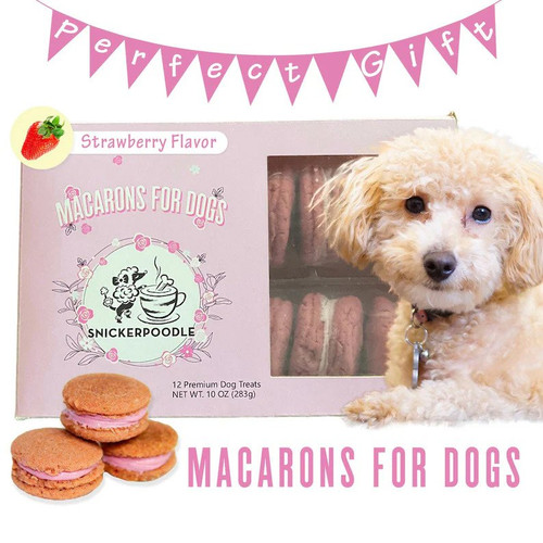 Macarons For Dogs - Strawberry Flavor