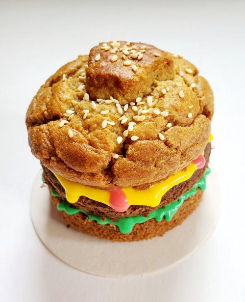 Dog Cake - Cheeseburger