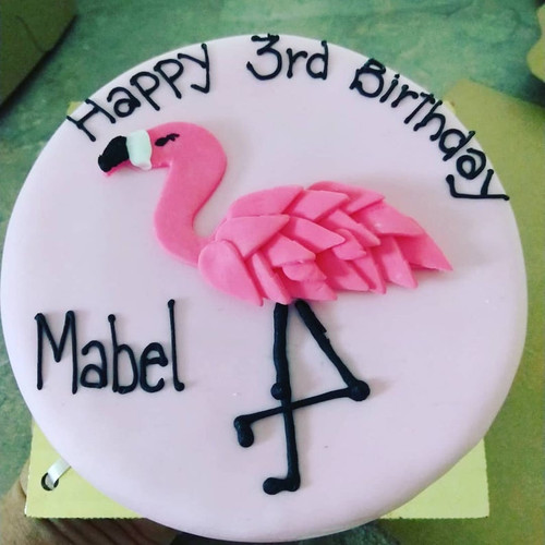 Dog Birthday Cake - 6 inch Pink Flamingo