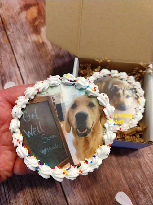 Dog Birthday Cake - Custom Photo or Logo