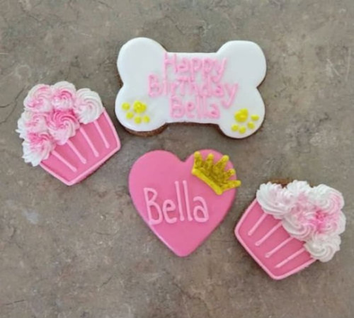 Dog Treats - Personalized Birthday Cupcake With A Crown