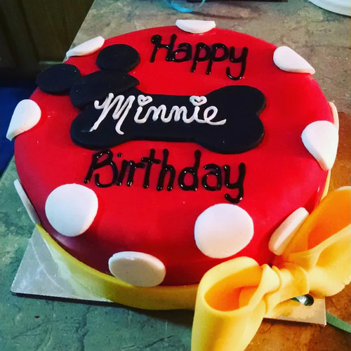 Dog Birthday Cake - Minnie Disney Inspired