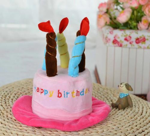 Dog Birthday Hat - Cake Candles Design