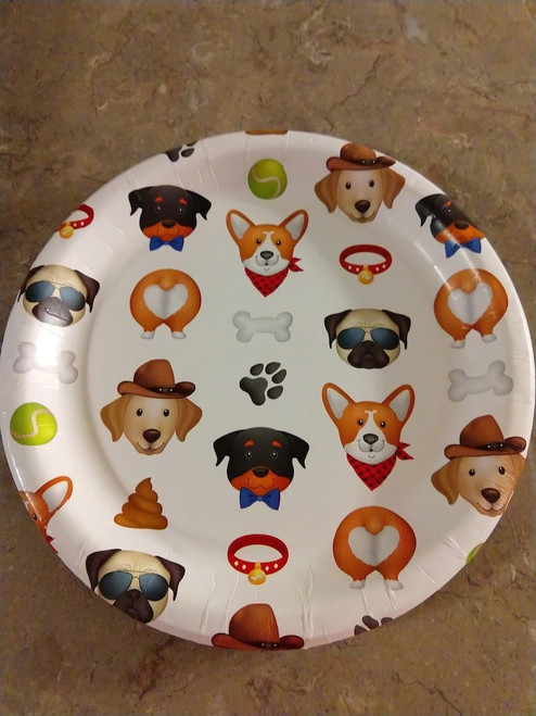Dog Birthday Plate - Dog Themed Party