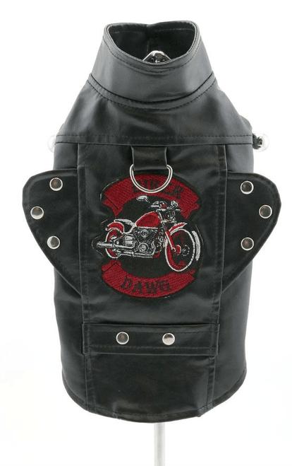 Biker Dawg Pleather Biker Dog Jacket (DD-born-to-ride)