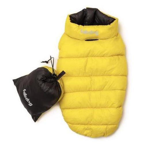 Pack N' Go Reversible Puffer - Yellow & Grey