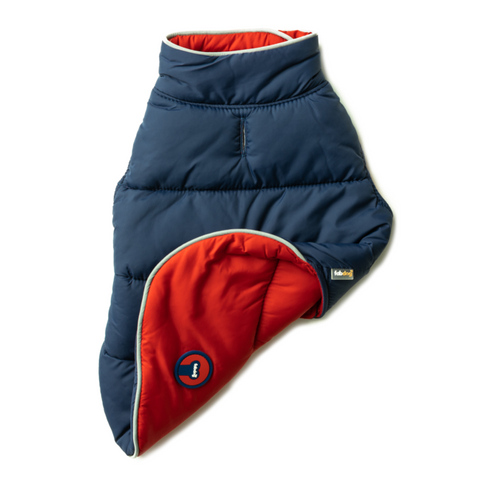 Reversible Puffer - Navy & Red