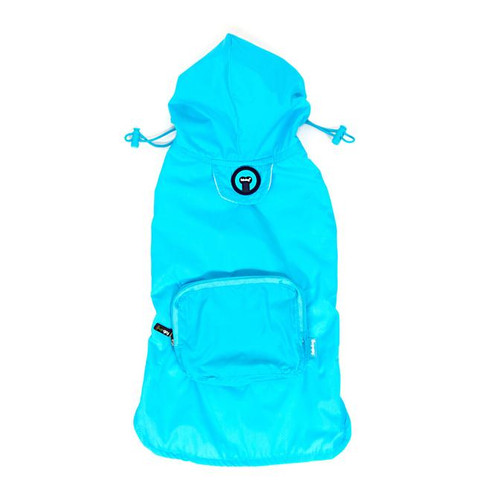 Packaway Dog Raincoat - Blue
