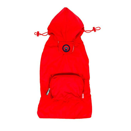 Packaway Dog Raincoat - Red