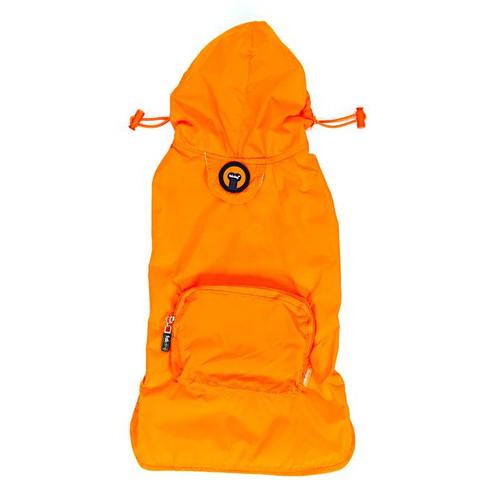 Packaway Dog Raincoat - Orange