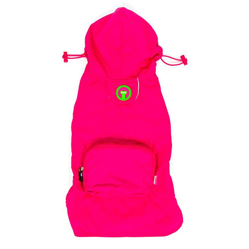 Packaway Dog Raincoat - Hot Pink
