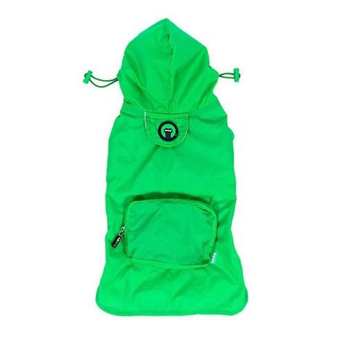 Packaway Dog Raincoat - Green