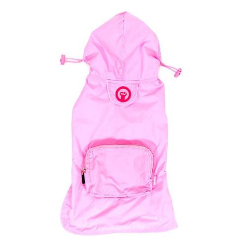 Packaway Dog Raincoat - Light Pink
