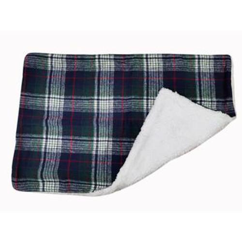 Dog Blanket - Blue & Green Plaid