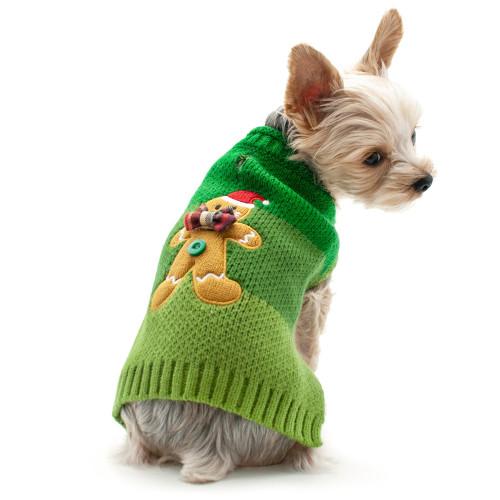 Dog Sweater - Gingerbread Man