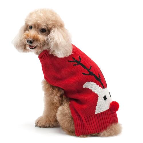 Dog Sweater - Red Nose Reindeer