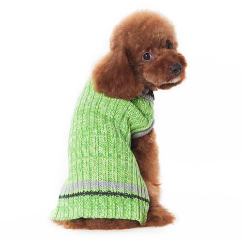 Dog Sweater - Green City V-Neck