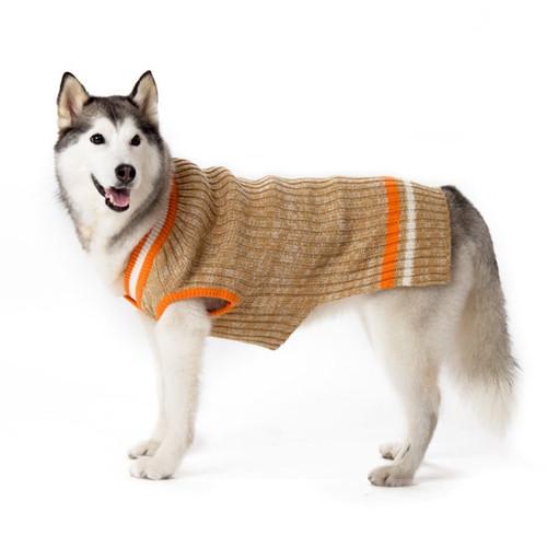 Dog Sweater - Beige City V-Neck