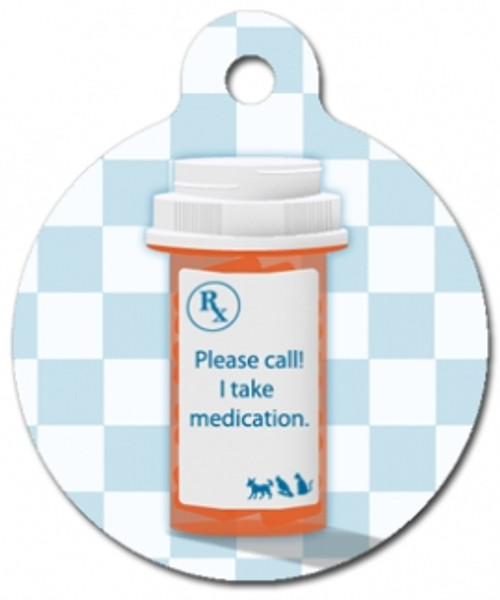I Take Medication Medical Alert Dog ID Tag