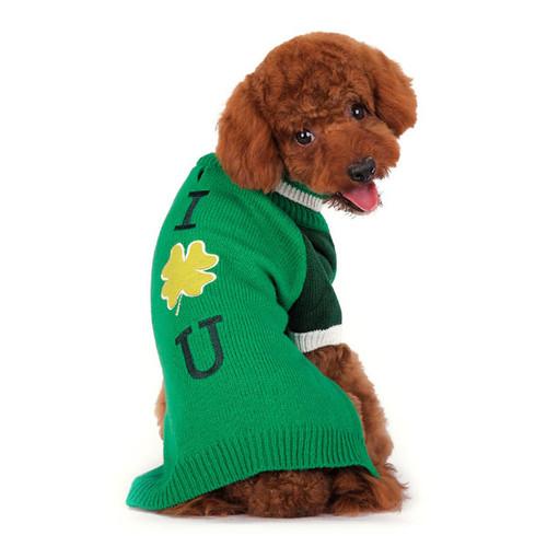 Dog Sweater - Shamrock Turtleneck