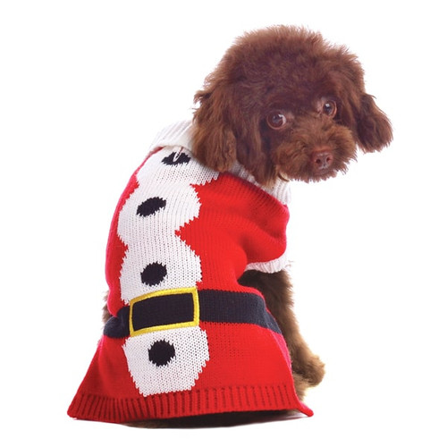 Dog Sweater - Santa