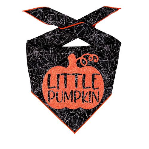 Dog Bandana - Little Pumpkin Web